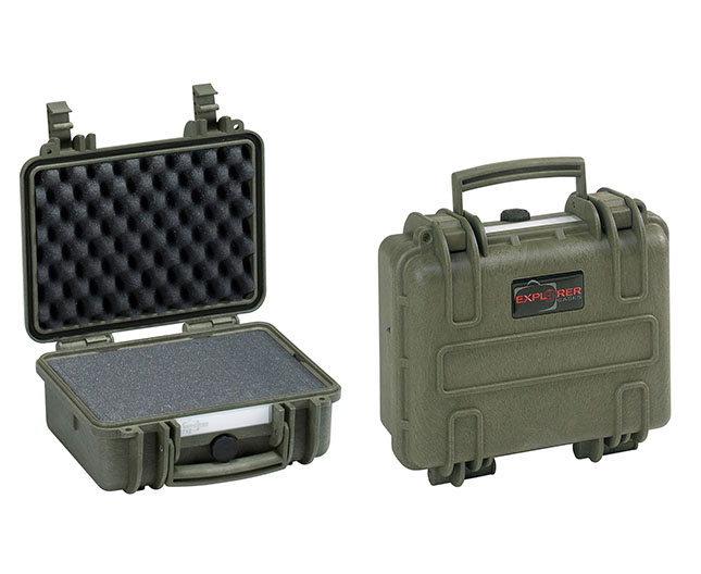 3818 G Waterproof Case, military green with pre-cubed foam
