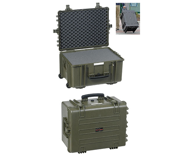 11413 G Waterproof Case, military green with pre-cubed foam